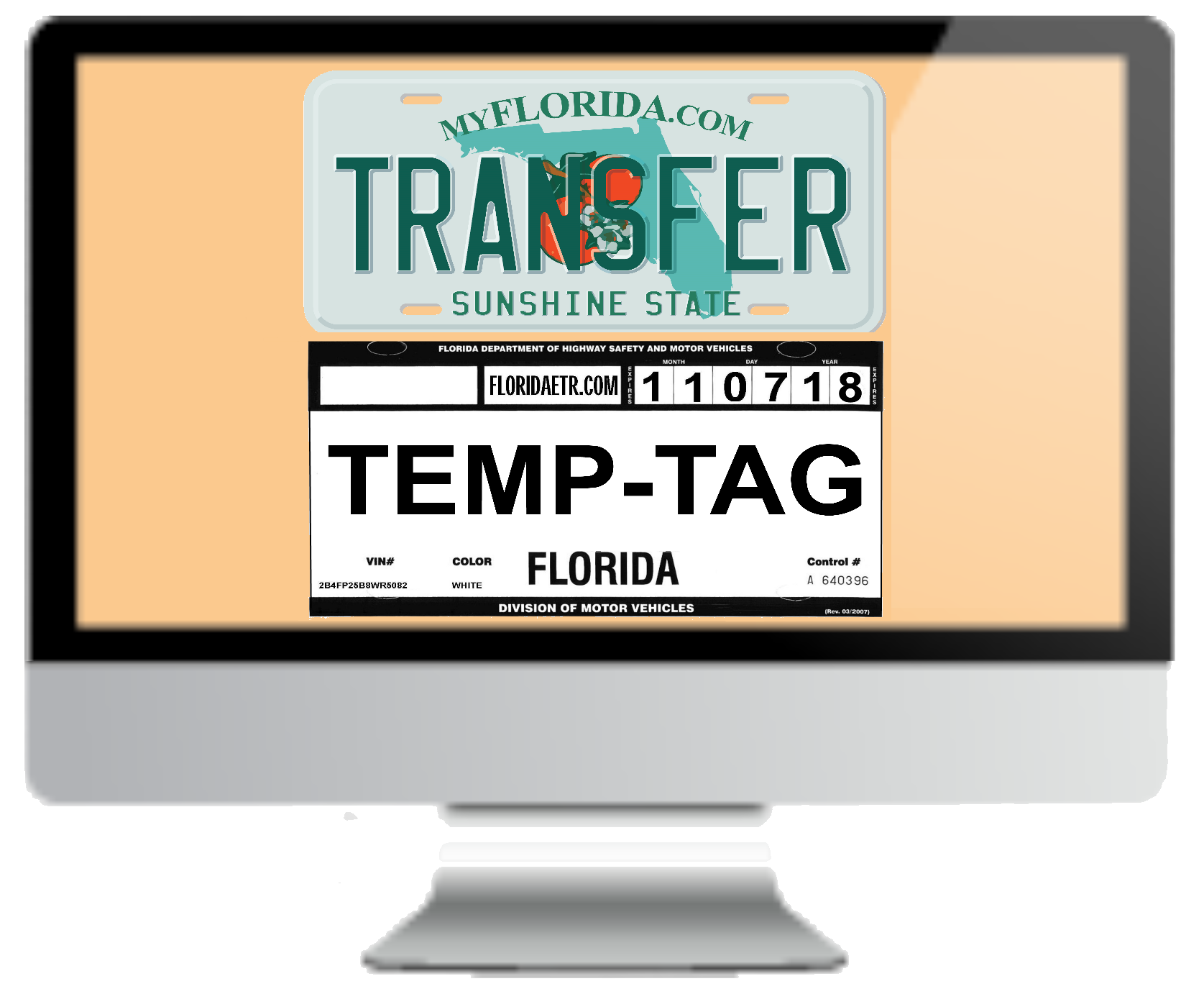 florida temp tags